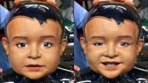 Roboter Diego-san: 18 Servomotoren für die Mimik