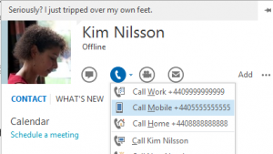 Skype für Windows ist nun an Microsoft Outlook angebunden.