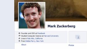 Nutzerkonto von Mark Zuckerberg
