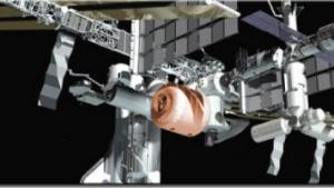 Erweiterung: So hätte das Transhab-Modul an der ISS aussehen können.