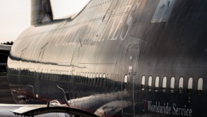 Eine Boeing 747-400 von United Airlines