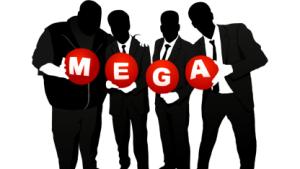 Silhouette der Mega-Gründer
