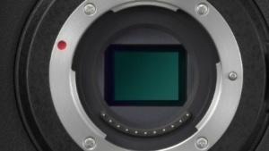 Das Micro-Four-Thirds-Bajonett an einer Panasonic-Kamera