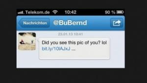 Spam - Direct Message vom Account des Bundesvorsitzenden der Piratenpartei Bernd Schlömer
