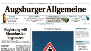 Augsburger Allgemeine hat Ärger wegen eines Forumskommentars.