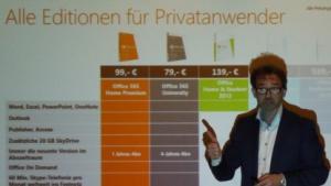 Microsoft zeigt Office 2013+365, doch eine mobile Fassung fehlt.