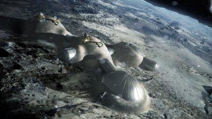 Mondstation aus dem 3D-Drucker: Struktur wie ein Vogelknochen