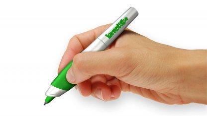 Der Lernstift soll darauf hinweisen, wenn ein Wort falsch oder unsauber geschrieben wird.