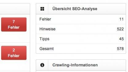 SEO-Tool untersucht kleine Webseiten kostenlos.