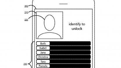 Korrekte Identifikation schaltet Handy frei.