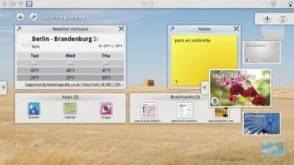Plasma Active - das User Interface des Vivaldi