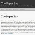 Paper Bay: Plattform für den Austausch wissenschaftlicher Arbeiten