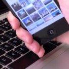Datensynchronisation Bump: Handy gegen Leertaste schlagen