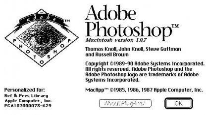 Photoshop 1.0 erschien 1990.