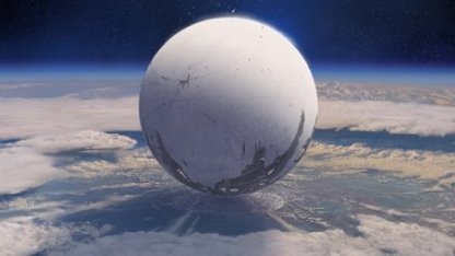 Die Kugel des mysteriösen Travellers über der Erde