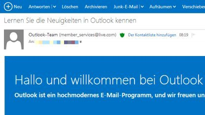 Outlook.com beendet die Testphase.