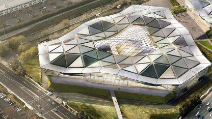 Wie ein Dreieck - so soll Nvidias neues US-Hauptquartier aussehen.