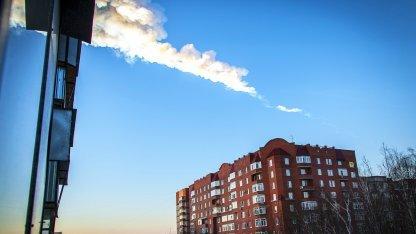 Tscheljabinsk-Meteorit: Schatten auf dem Platz der Revolution