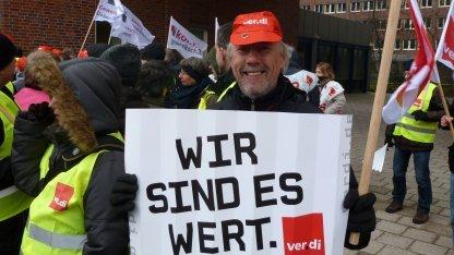 Warnstreik am 25. Februar 2013 in Hamburg