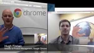 Videotelefonat zwischen Firefox und Chrome