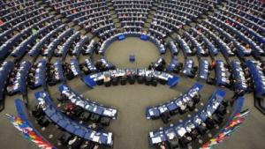 Sitzungssaal im EU-Parlament