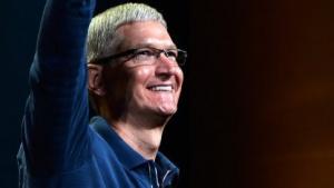 Apple-Chef Tim Cook bei der Präsentation des iPad 4