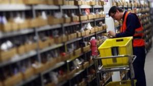 Logistikzentrum von Amazon in Graben nahe Augsburg