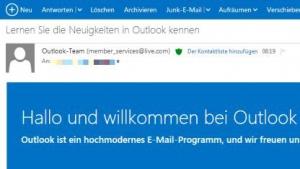 Outlook.com beendet die Testphase.