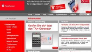 Die offizielle Webseite der Sparkasse wurde Ziel eines Angriffs.