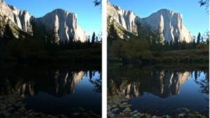 Links ohne und rechts mit Binary Pixel