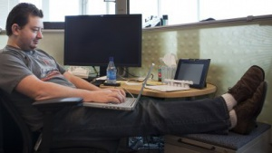 Google-Software-Entwickler im Jahr 2009 in Kirkland, Washington