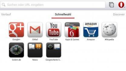 Opera Mobile mit neuer Bedienoberfläche