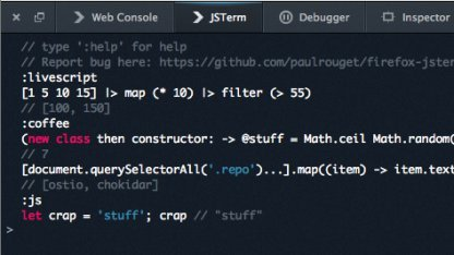 Firefox Terminal mit Syntax Highlighting