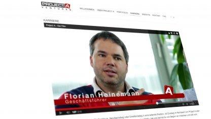 Die Projekt-A-Website von Florian Heinemann