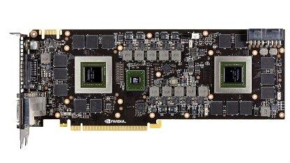 Die Platine der GTX-690 mit zwei GPUs