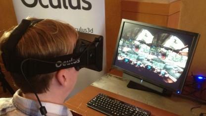 Finale Entwicklerversion von Oculus Rift im Einsatz mit Hawken