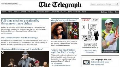 Daily Telegraph: erste allgemeine Tageszeitung in Großbritannien mit Metered Paywall