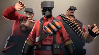 Artwork von Team Fortress 2 mit Oculus Rift
