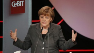Kanzlerin Merkel bei der Eröffnungsrede zur Cebit 2013