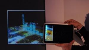 DaaS: Das Notebook erweitert den Bildbereich des Projektors.