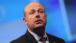 Microsoft-Vorstand Kevin Turner auf der Cebit 2013