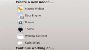 Mit Plasmate lassen sich Addons für die Plasma Workspaces der KDE SC erstellen.