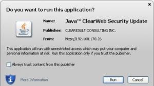 Java-Exploit mit Signatur