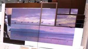 Ein 4K-Video wird mit DaaS auf unterschiedliche Bildschirme verteilt.