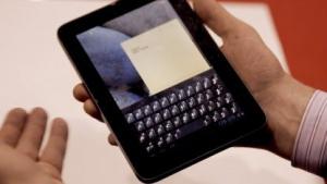 Mehr Tippkomfort beim Schreiben auf einem Touchscreen