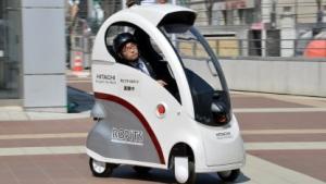 Ropits: Hitachis Roboterfahrzeug transportiert Fußgänger