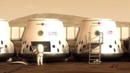 Mögliche Marskolonie: Jetzt gehts in den Marscontainer.