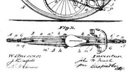 Ein Patent zu einem Monocycle aus dem Jahr 1894