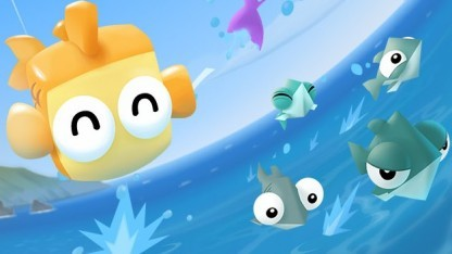 Screenshot: Rakete, Mikro und Olympus aus Fish Out of Water