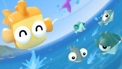 Screenshot: Rakete, Mikro und Olympus aus Fish Out of Water